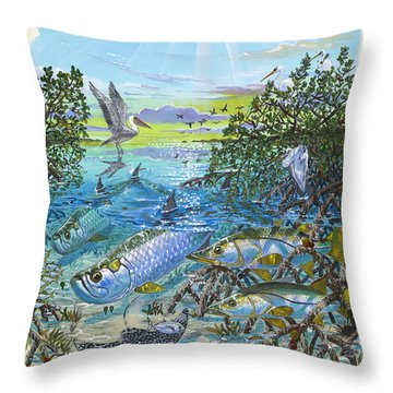 Lagoon Throw Pillow by Carey Chen