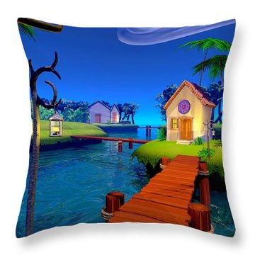 Lagoon Throw Pillow by Cynthia Decker
