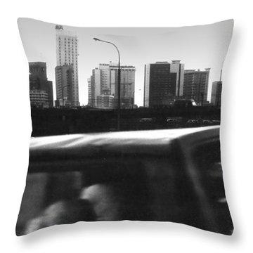 Lagos Skyline At Dusk Throw Pillow