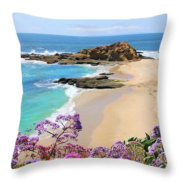 Laguna Beach Coastline Throw Pillow