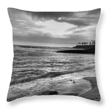 Laguna Beach Sunset Throw Pillow