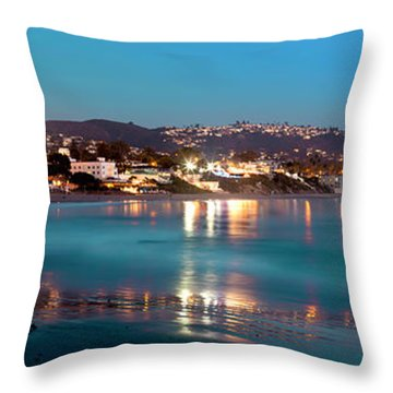 Laguna Beach Twilight Reflections Throw Pillow