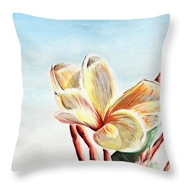 Laguna Flower Throw Pillow