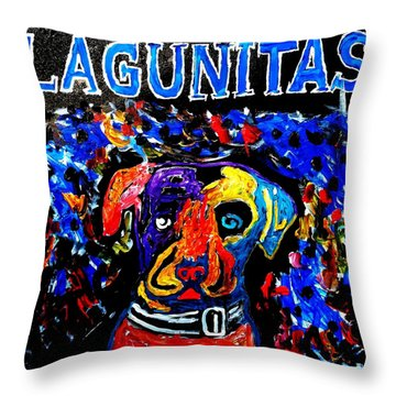 Lagunitas Dog Throw Pillow