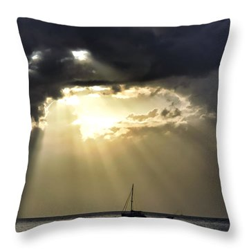 Lahaina Sunset 2 Throw Pillow by Dawn Eshelman