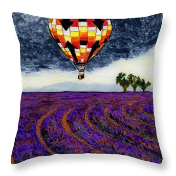 L'air Chaud Sur Sault Provence Throw Pillow