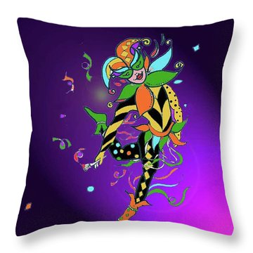 Laissez Les Bon Temps Rouler Throw Pillow by Lizi Beard-Ward