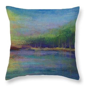 Lake At Sundown Throw Pillow