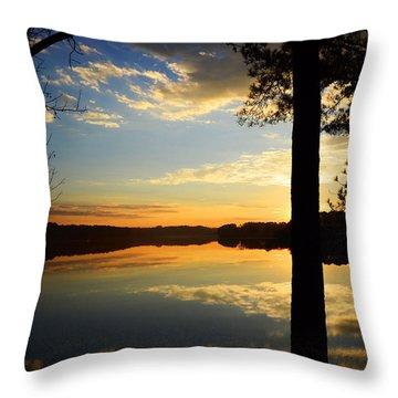 Lake At Sunrise Throw Pillow