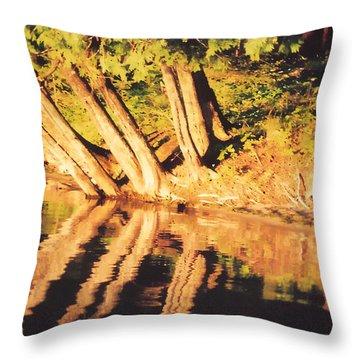 Lake At Sunset Throw Pillow by Susan Crossman Buscho