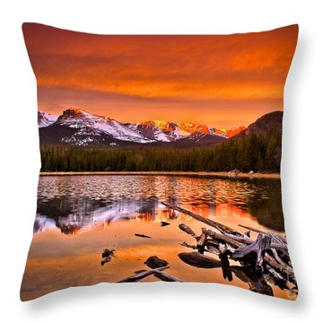 Lake Bierstadt In The Morn Throw Pillow by Steven Reed