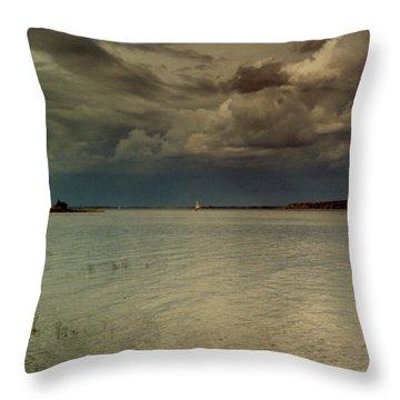 Lake Champlain Throw Pillow by Nancie Johnson