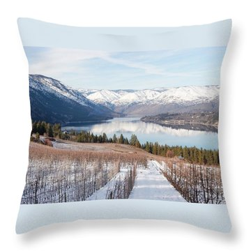 Lake Chelan In Winter Throw Pillow