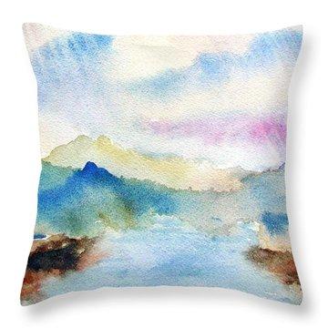 Lake Chuzenji Nikko Throw Pillow