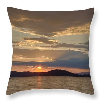 Lake Coeur D Alene Throw Pillow