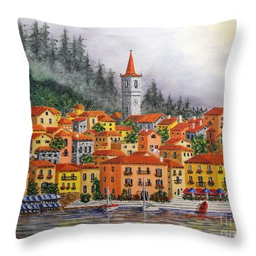 Lake Como Italy Throw Pillow