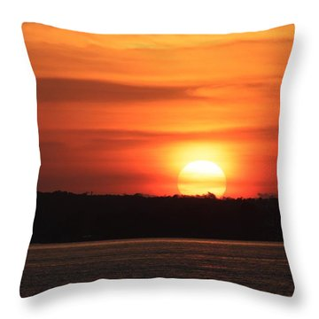 Lake Conroe Sunset Throw Pillow