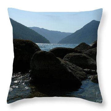 Throw Pillow featuring the photograph Lake Crescent by Jane Ford