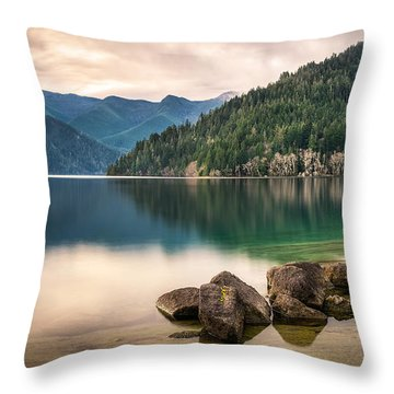 Lake Crescent Zen Throw Pillow