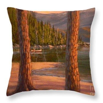 Lake Cruise Throw Pillow