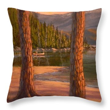 Lake Cruise Throw Pillow