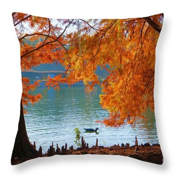 Lake Ella Morning Throw Pillow