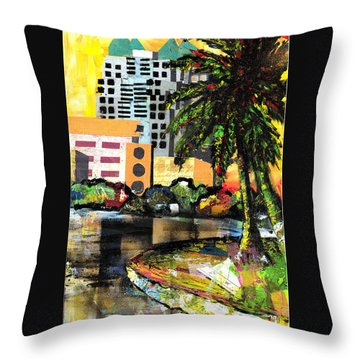 Lake Eola - Part 3 Of 3 Throw Pillow by Everett Spruill