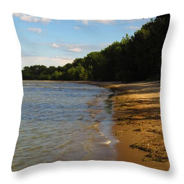 Lake Erie Shore 3 Throw Pillow