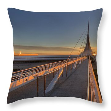 Lake Front View Throw Pillow