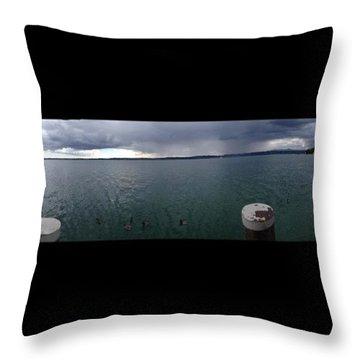 #lake #garda #landscape #nice #trip Throw Pillow by Gianluca Palombi
