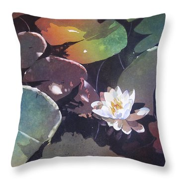 Lake Garden Throw Pillow