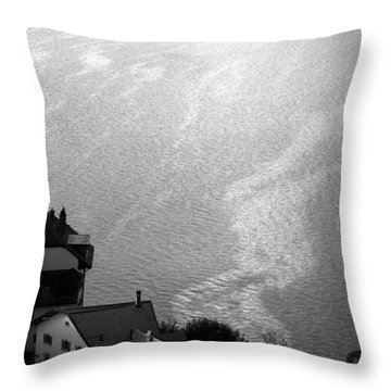 Currents  Throw Pillow by Colleen Williams