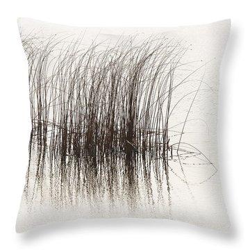 Lake Grasses Throw Pillow
