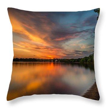Lake Harriet Grand Finale Throw Pillow by Mark Goodman