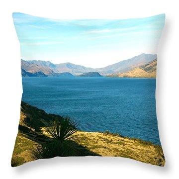Throw Pillow featuring the photograph Lake Hawea by Stuart Litoff