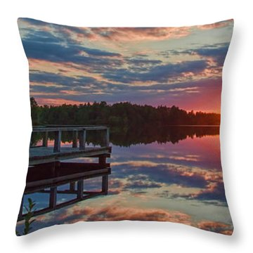 Lake Horicon Sunset 1 Throw Pillow
