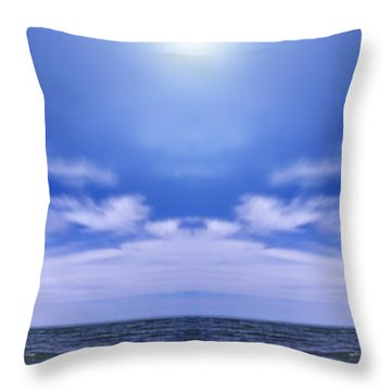 Lake Huron And Sky Throw Pillow by Vast Photography