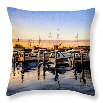 Lake Huron Sunrise Throw Pillow by Spencer Meagher