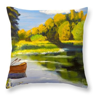 Lake Illawarra At Primbee Throw Pillow