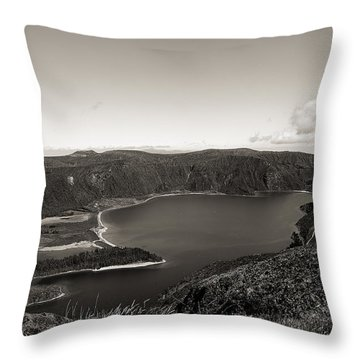 Lake In A Crater Throw Pillow
