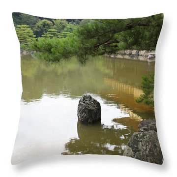 Lake In Japan Throw Pillow by Evgeny Pisarev