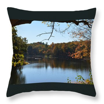 Lake In The Catskills Throw Pillow