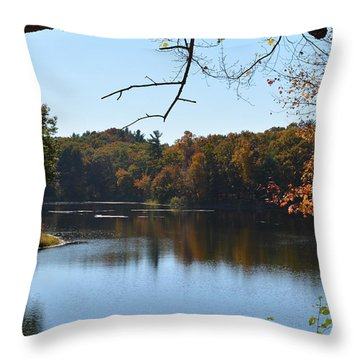 Lake In The Catskills Throw Pillow by Kenneth Cole