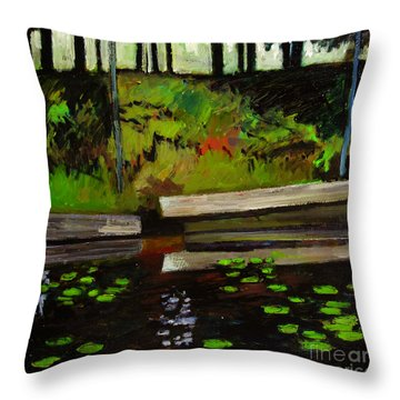 Lake In The Woods Throw Pillow