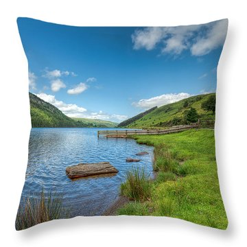 Lake In Wales Throw Pillow by Adrian Evans