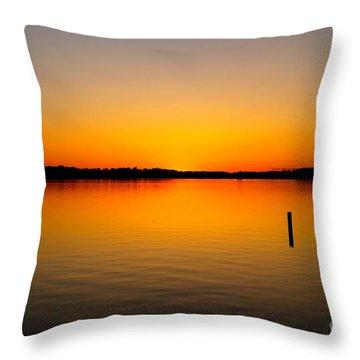Lake Independence Sunset Throw Pillow