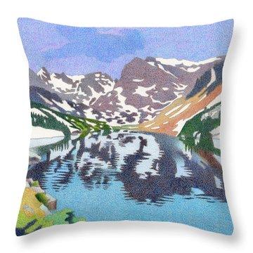 Lake Isabelle Colorado Throw Pillow