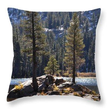 Lake Island Throw Pillow