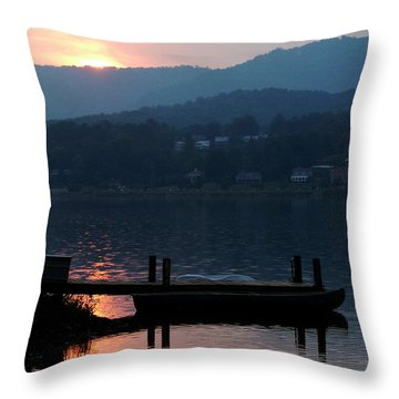 Throw Pillow featuring the photograph Lake J Sunset by Craig T Burgwardt