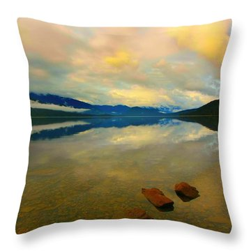 Throw Pillow featuring the photograph Lake Kaniere New Zealand by Amanda Stadther